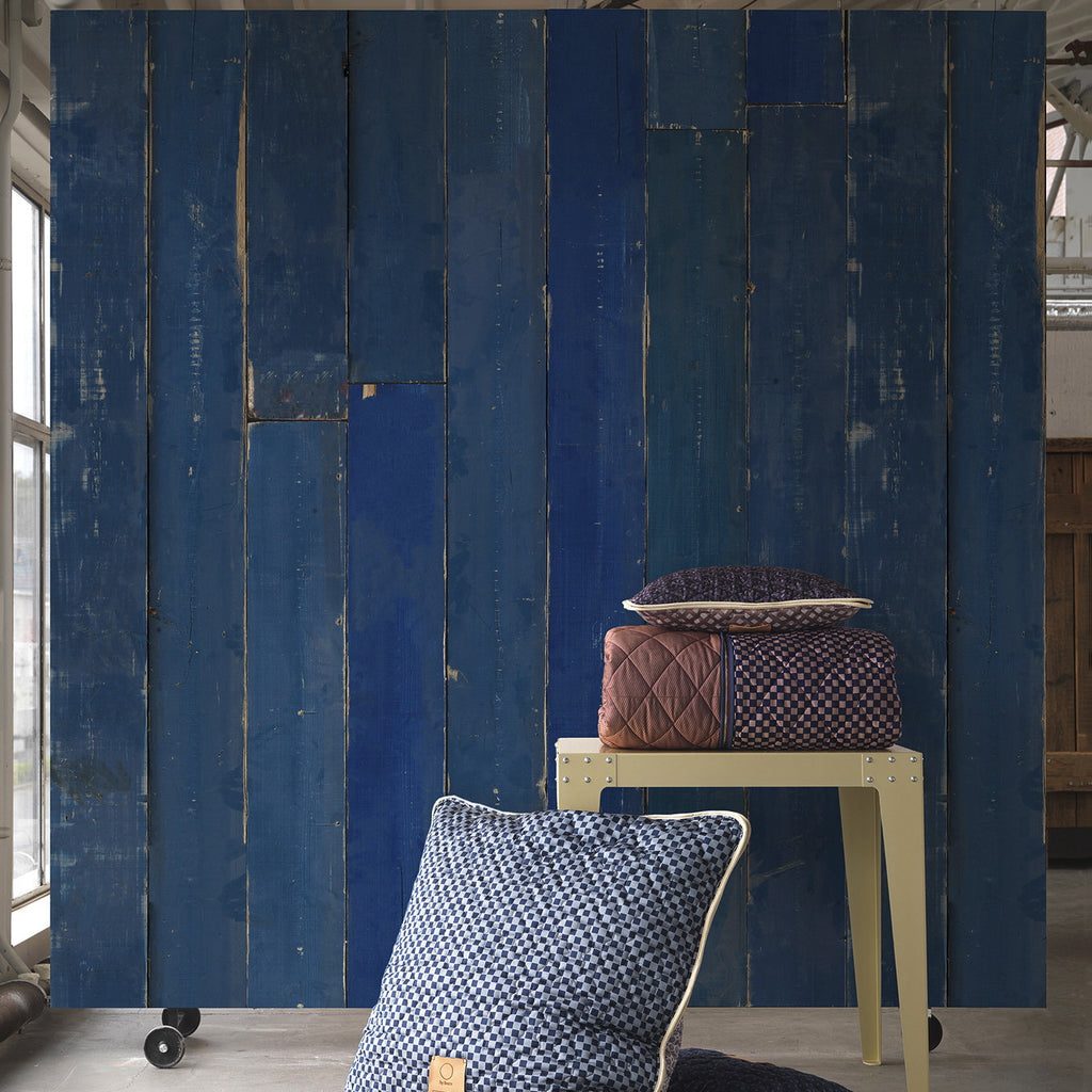 Scrapwood Wallpaper in  Blue | Piet Hein Eek