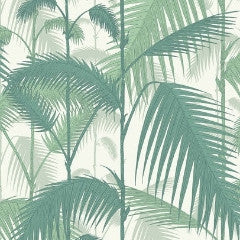Palm Jungle 95/1002 Wallpaper Cole & Son. Forrest Green & White
