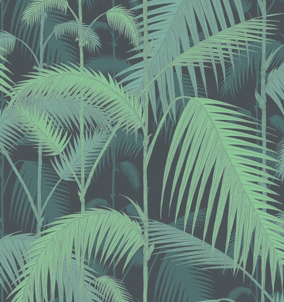 Palm Jungle 95/1003 Wallpaper Cole & Son. Green on Black