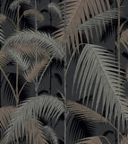 Palm Jungle Wallpaper 95/1004 Cole & Son in Silver & Black