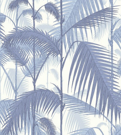 Palm Jungle Wallpaper Cole & Son 95/1005 in Blue & White