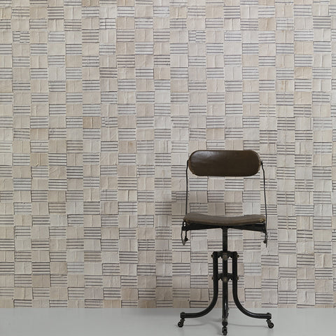 NLXL LAB Wallpaper | Crown Caps (white) by Jeanine Eek Keizer