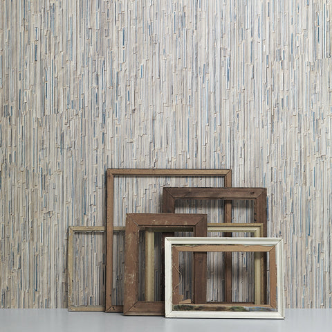 Piet Hein Eek Wallpaper | Blue Scrapwood Wallpaper
