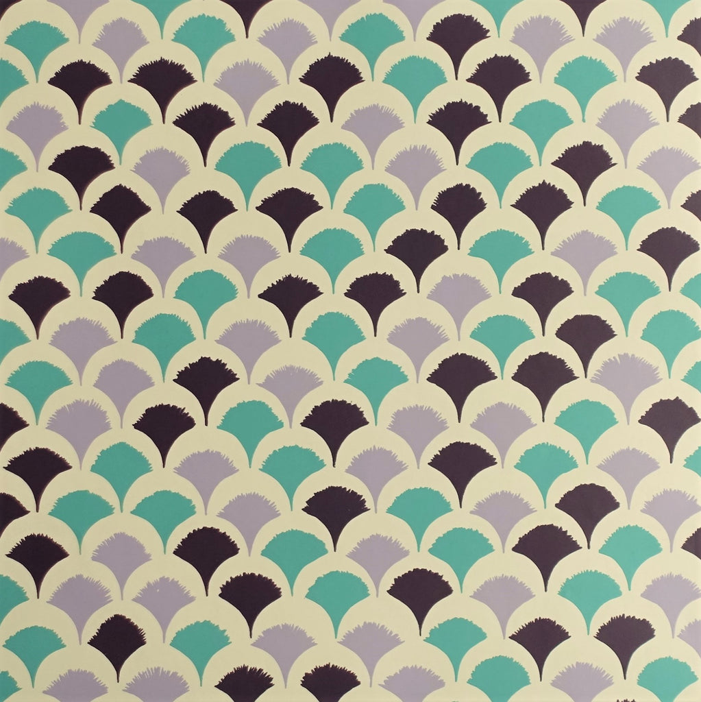 Caliph Wallpaper in Purple by Signature Prints