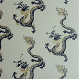 Dragons Wallpaper by Signature Prints in gold