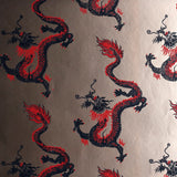 Dragons Wallpaper by Signature Prints in Metallic Bronze