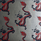 Dragons Wallpaper in Metallic Silver by Signature Prints