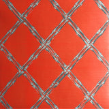 Rattan Wallpaper in Red by Signature Prints