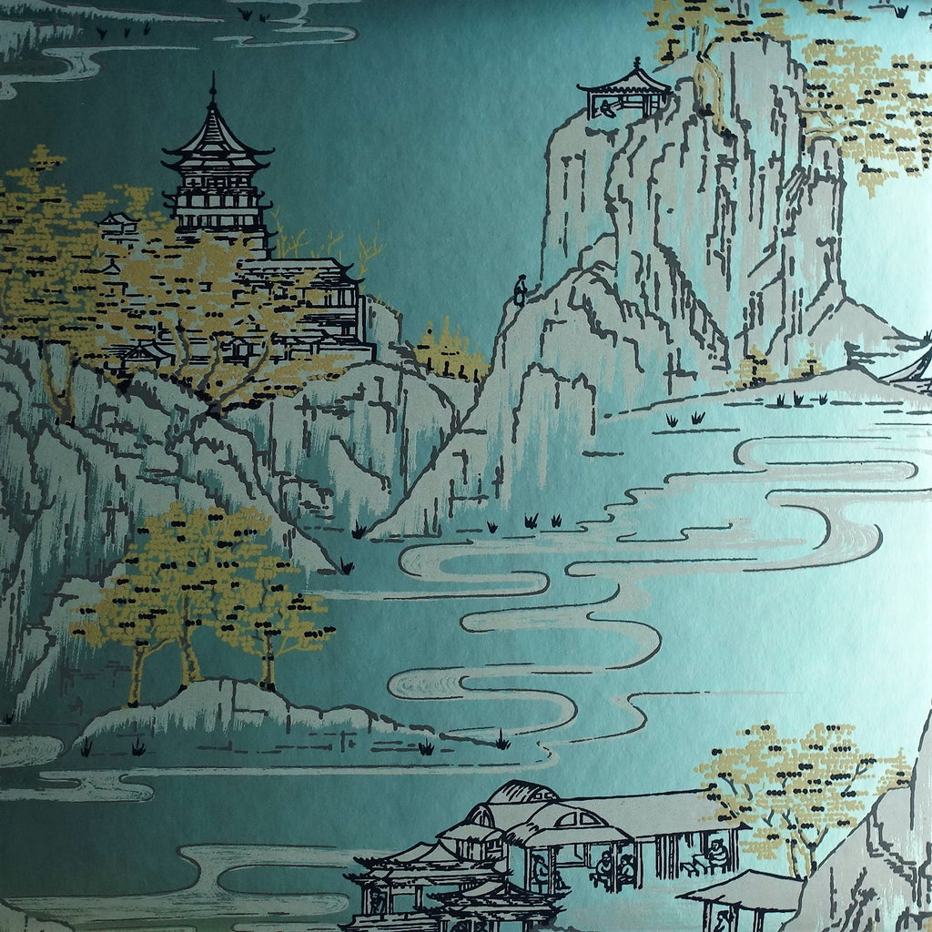 Summer Palace Wallpaper Metallic Wallpaper by Signature Prints