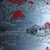 Summer Palace Wallpaper in silver & black by Signature Prints