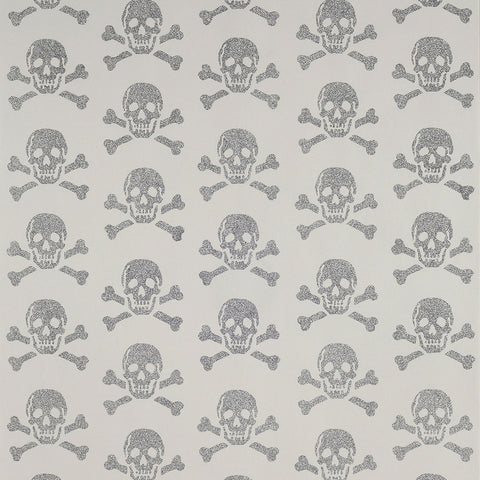 Beware The Moon Wallpaper | Skulls on Black Gunmetal