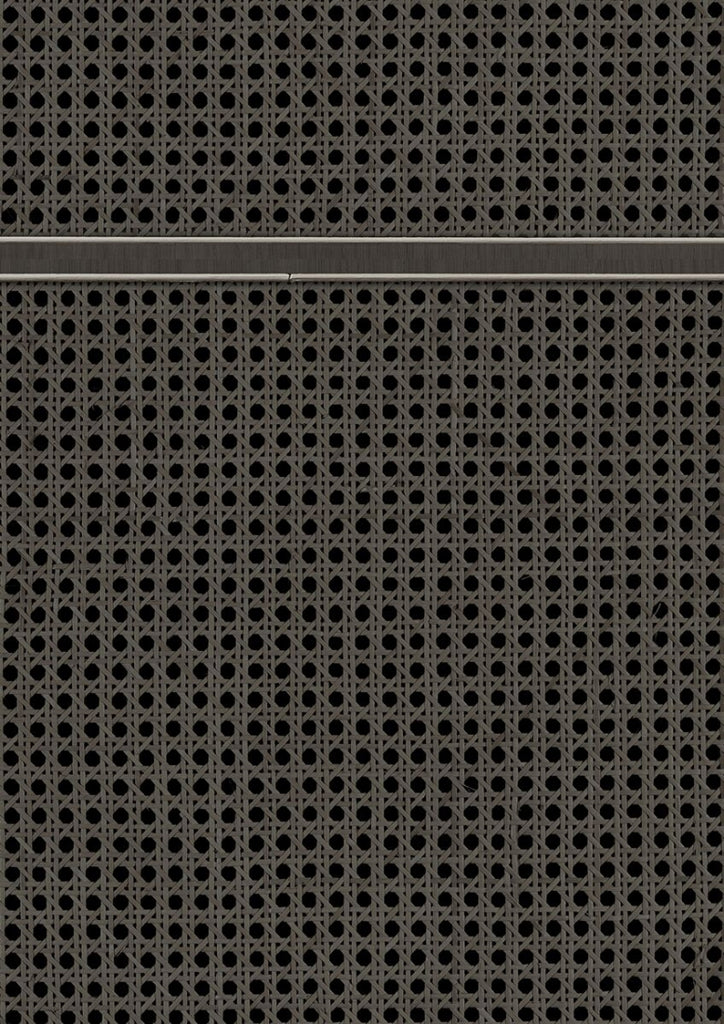 Cane Wallpaper - Square Webbing in Black VOS 18