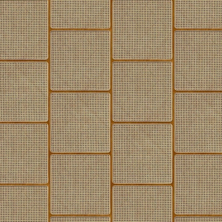 Square Webbing Wallpaper in Oak 14 | NLXL Australia