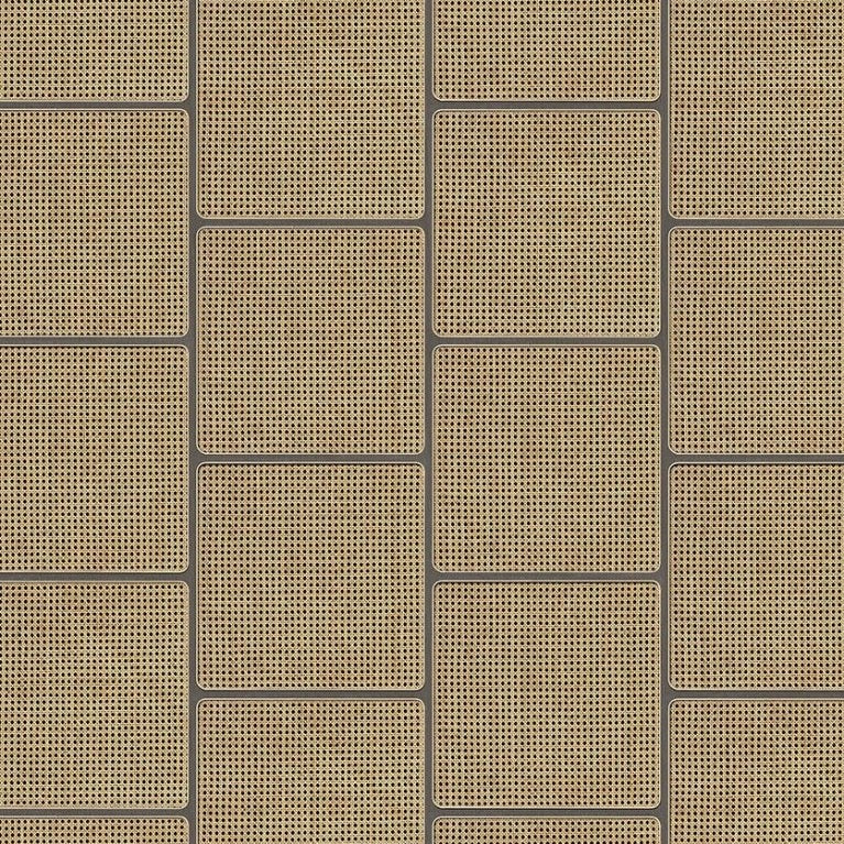 Square Webbing Wallpaper in Grey VOS17