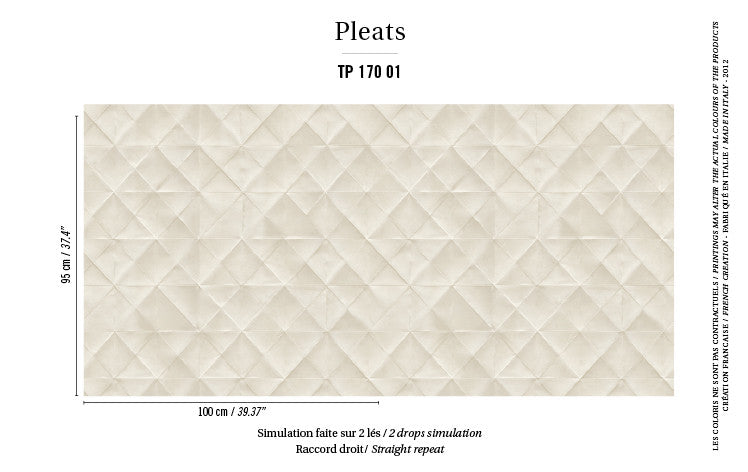 Elitis Wallpaper Mis en plis TP 170-01 Pleats Collection