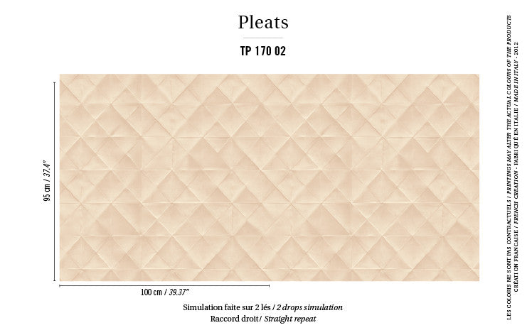 Elitis Wallpaper Mis en plis TP 170-02 Pleats Collection