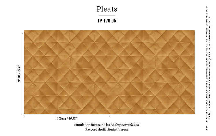 Elitis Wallpaper Mis en plis TP 170-05 Pleats Collection