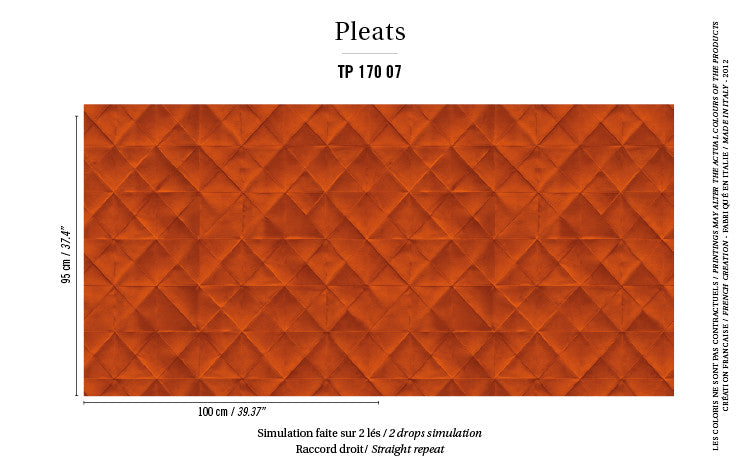 Elitis Wallpaper Mis en plis TP 170-07 Pleats Collection