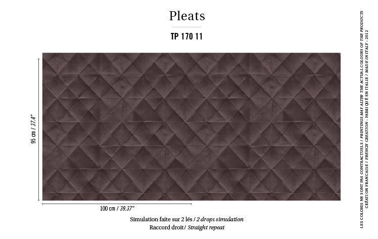 Elitis Wallpaper Mis en plis TP 170-11 Pleats Collection