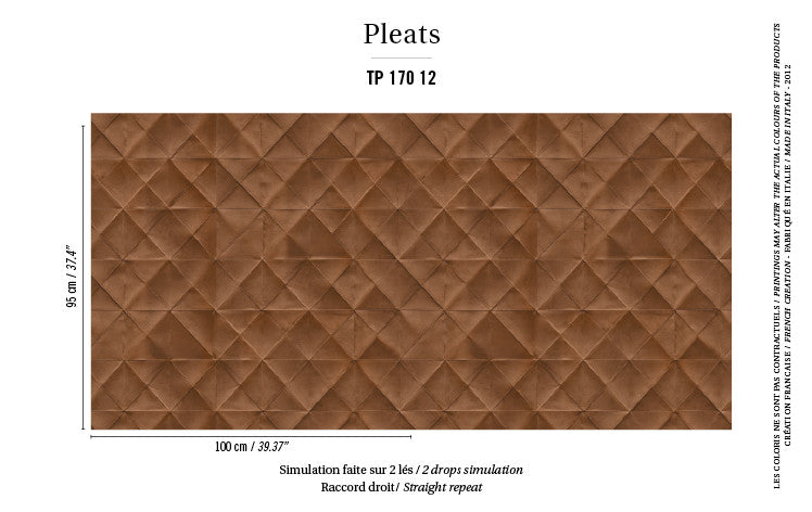 Elitis Wallpaper Mis en plis TP 170-12 Pleats Collection