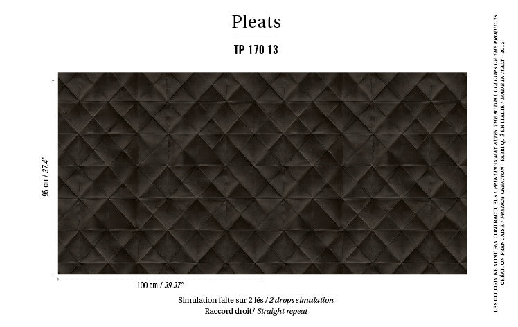 Elitis Wallpaper Mis en plis TP 170-13 Pleats Collection