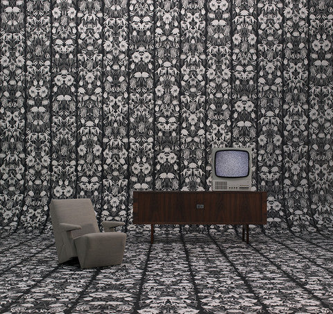 STUDIO JOB WALLPAPER NLXL WITHERED FLOWERS BLACK