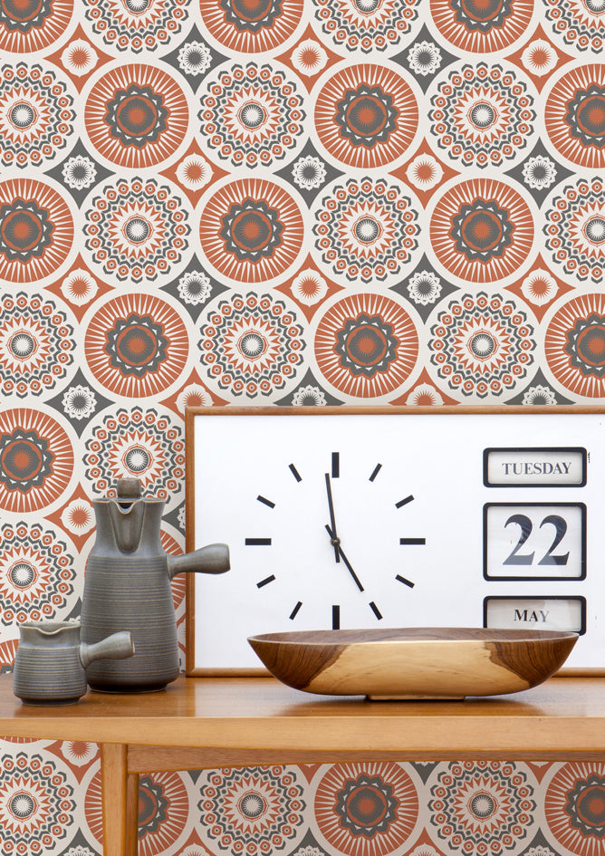 Mini Moderns Wallpaper Darjeeling Harvest Orange