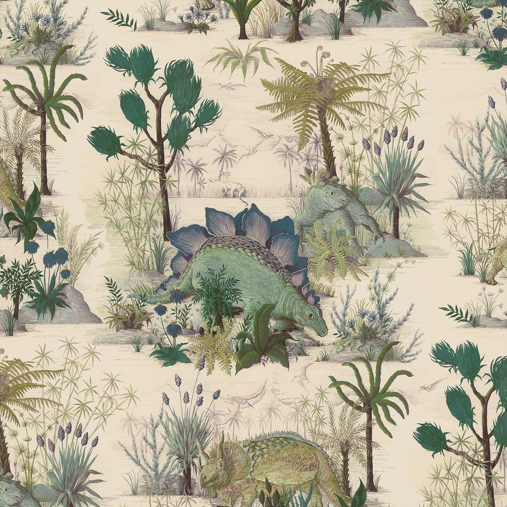 House of Hackney Wallpaper | Dinosauria  Ecru