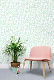 A Forrest Wallpaper by Mini Moderns in Pale Verdigris