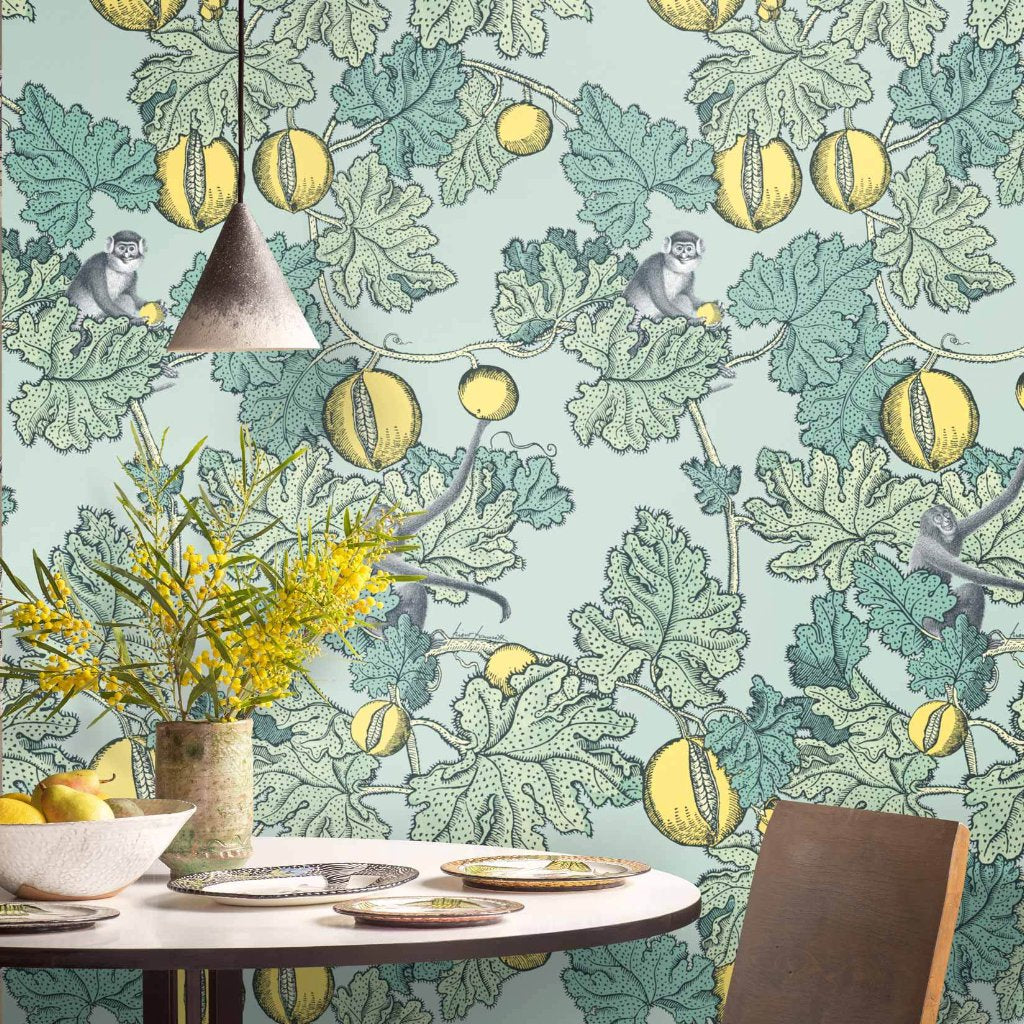 Cole & Son Wallpaper Frutto Proibito 114/1002 from the Fornasetti Collection.