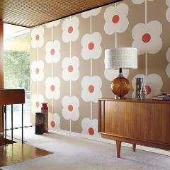 Orla Kiely Wallpaper Giant Abacus Flower 110408