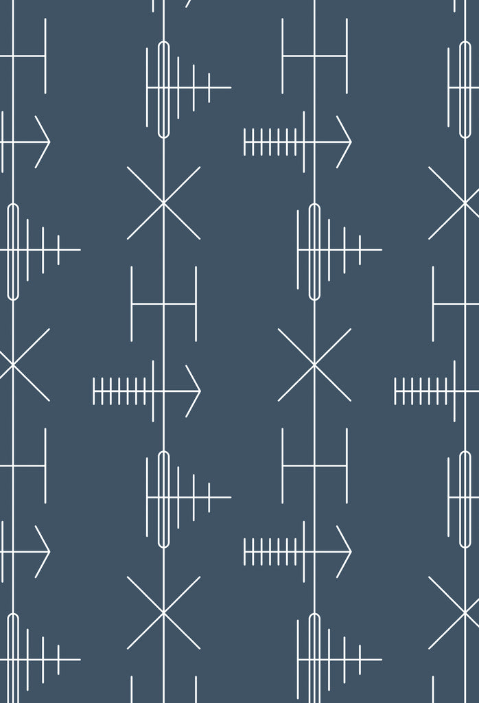 Mini Moderns Wallpaper | Transmission Washed Denim