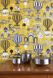 Mini Moderns Wallpaper | Pleasure Gardens Mustard & Silver