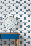 Mini Moderns Wallpaper | Net and Ball Washed Denim
