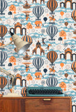 Mini Moderns Wallpaper | Pleasure Gardens Tangerine Dream