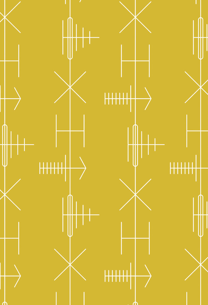 Mini Moderns Wallpaper | Transmission Mustard