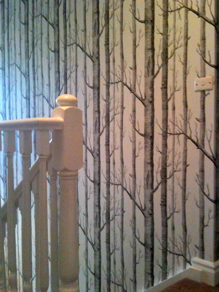 Cole & Sons Woods Wallpaper as seen on the Block installed by Cutting Edge Wallpapering
