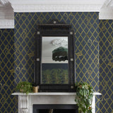 KHAISIA Wallpaper Midnight | House of Hackney Wallpaper Australia
