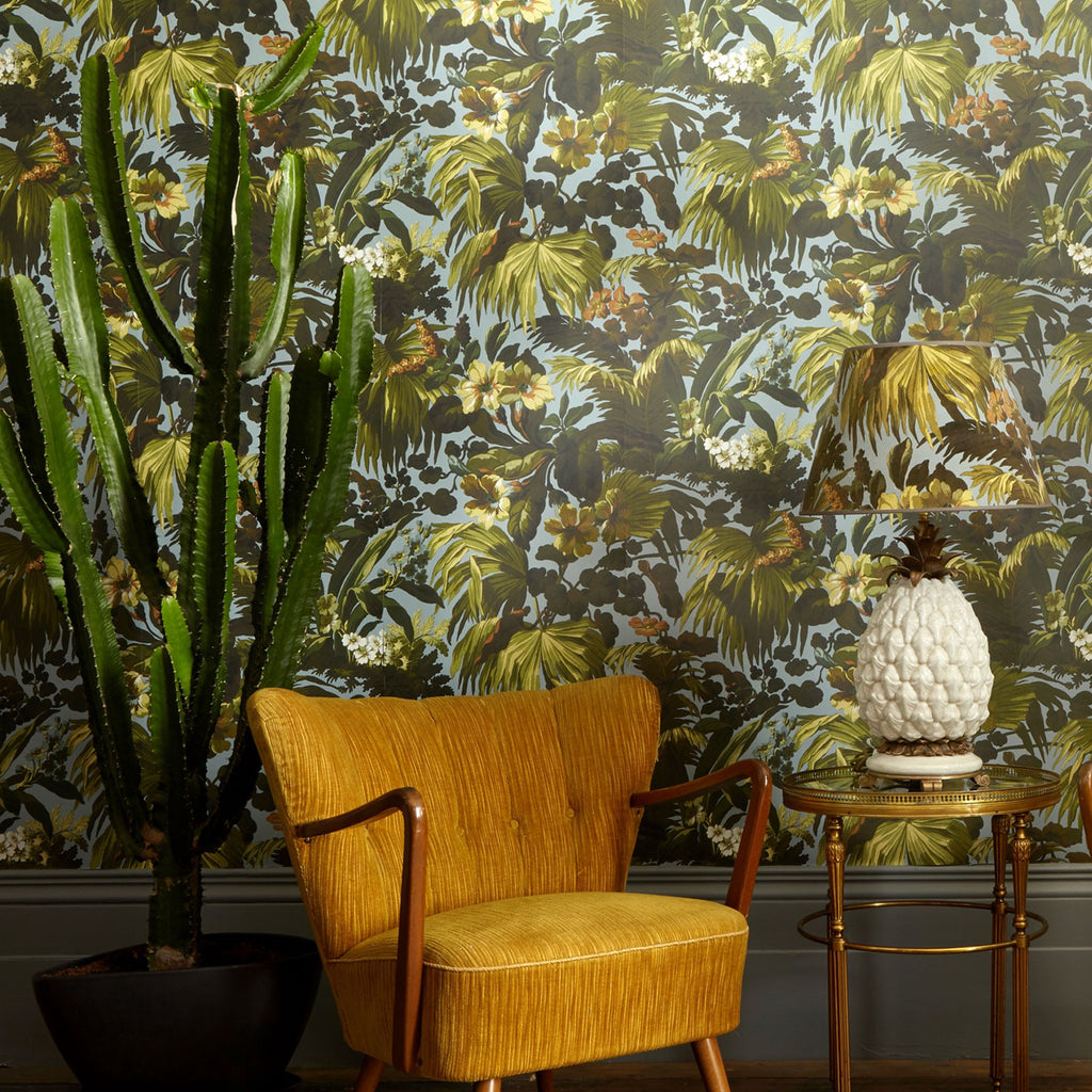 Limerence Wallpaper in Sky by House of Hackney Australia