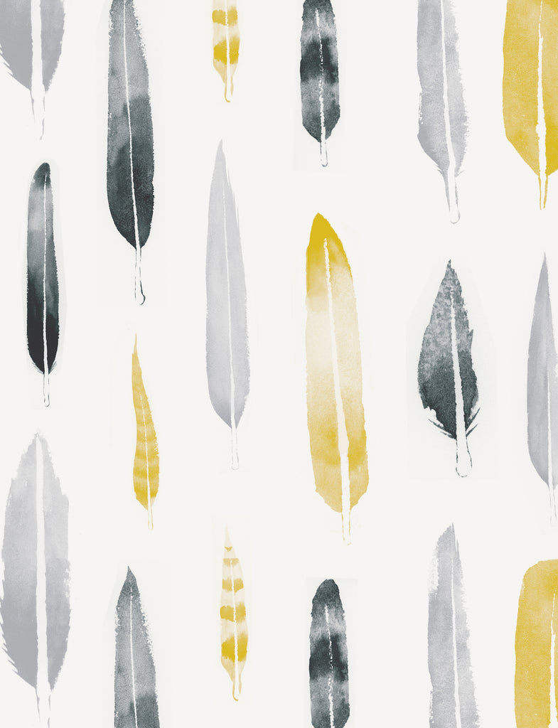 Mini Moderns Wallpaper | Feathers