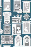 One Day Wallpaper in Washed Denim | Mini Moderns Wallpaper