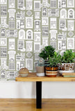 One Day Wallpaper in British Lichen by Mini Moderns