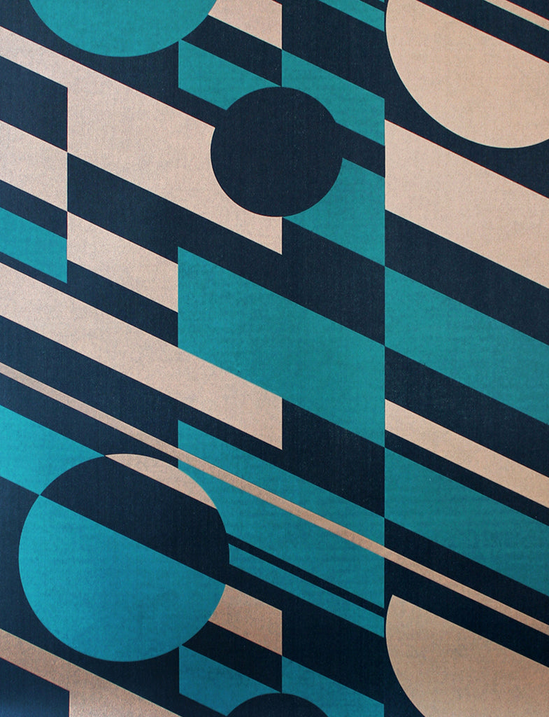 PLUTO Wallpaper by Mini Moderns in Lido & Copper