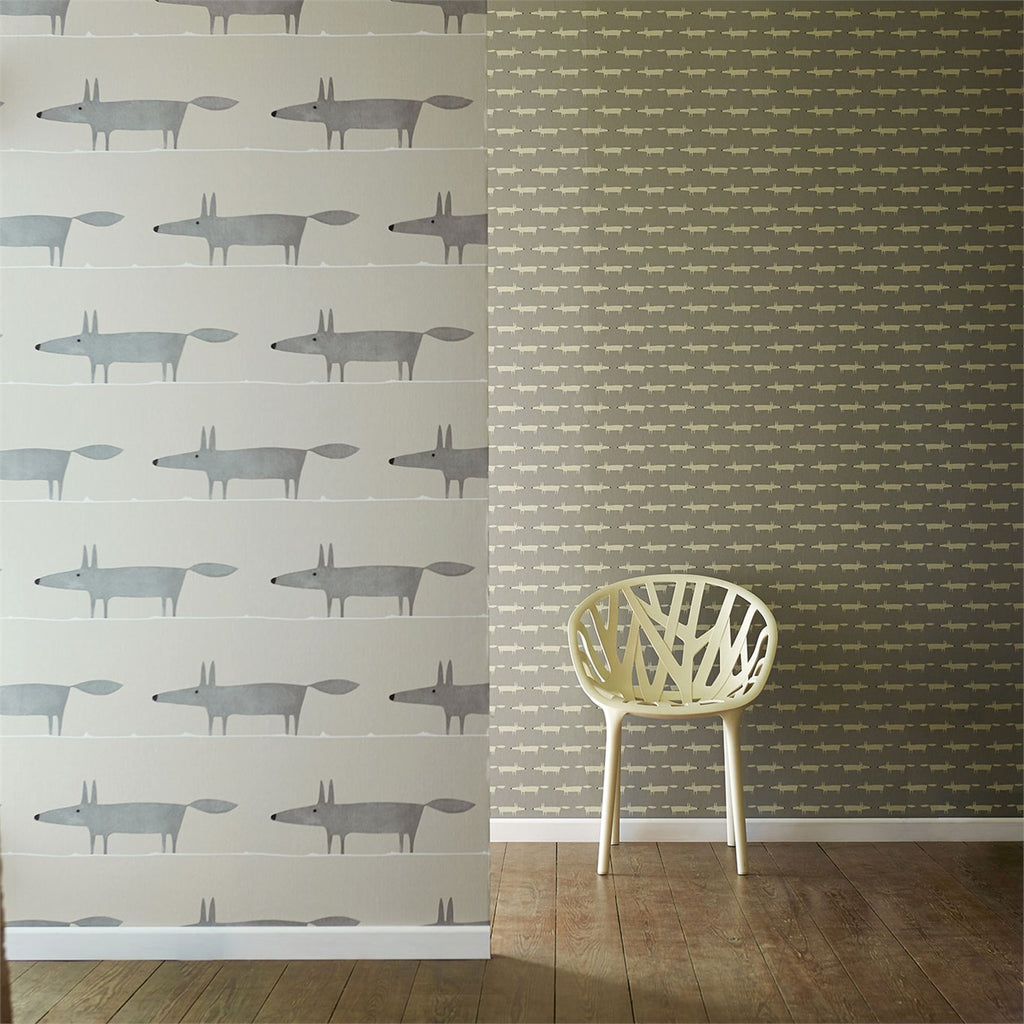 Scion Wallpaper - Little Fox 110838 Silver