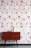 Studio Ditte Porcelain Saucer Wallpaper from Removable Wallpaper.com.au
