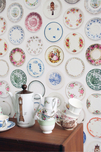 Studio Ditte Porcelain Saucer Wallpaper from Removable Wallpaper Online Store
