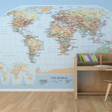 World Map Mural by Muffin & Mani, made to measure your walls