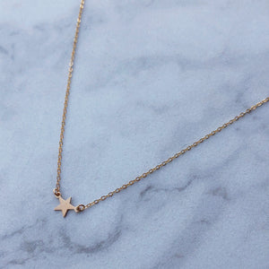 Shooting Star Choker in 14k Gold