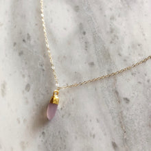 Love Stone Necklace in 14k Gold