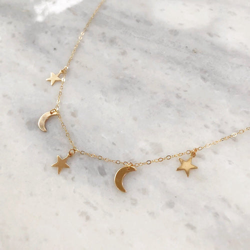 Cosmic Choker in 14k Gold